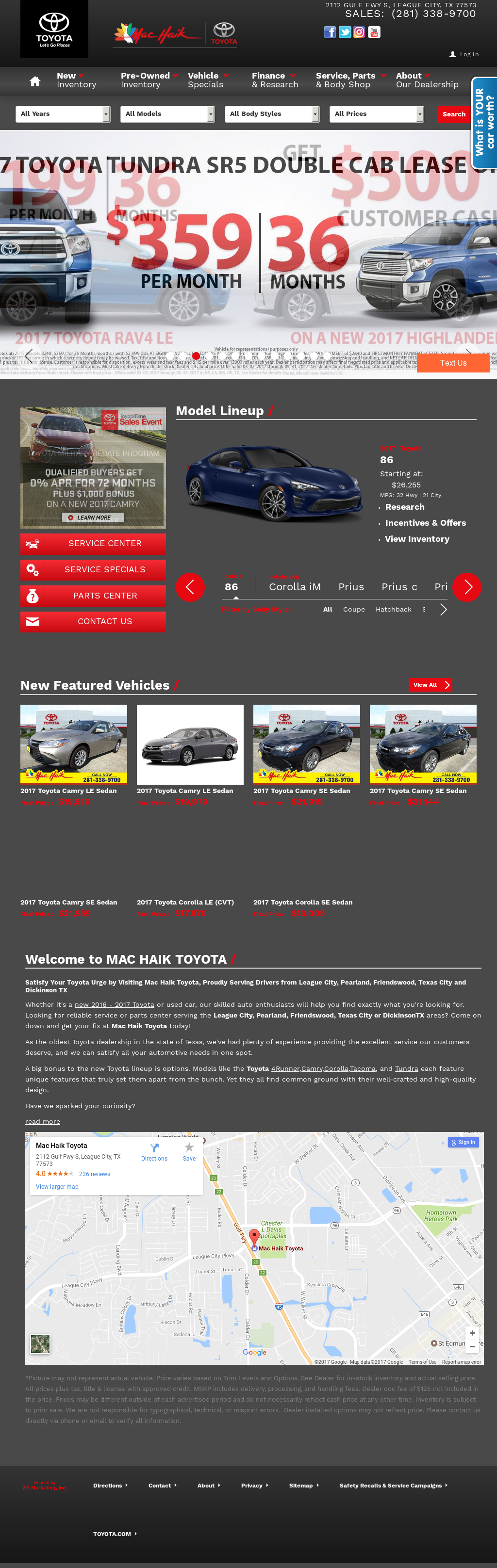 Star Toyota Website History