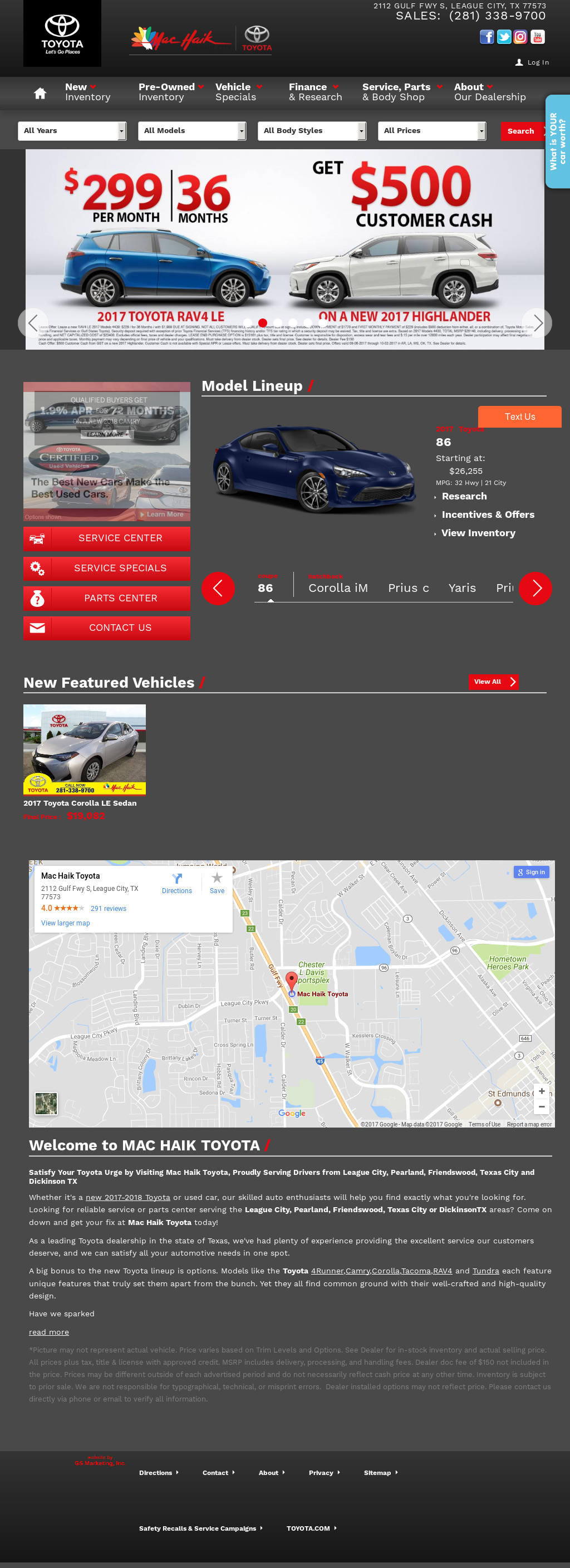 Superior Star Toyota Website History