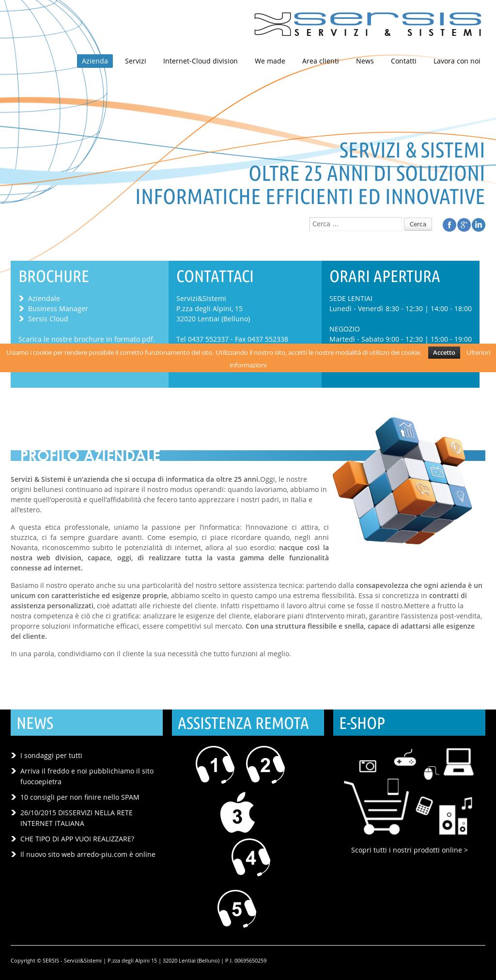 Il Freddo Quando Arriva sersis - servizi & sistemi s.n.c. soluzioni informatiche