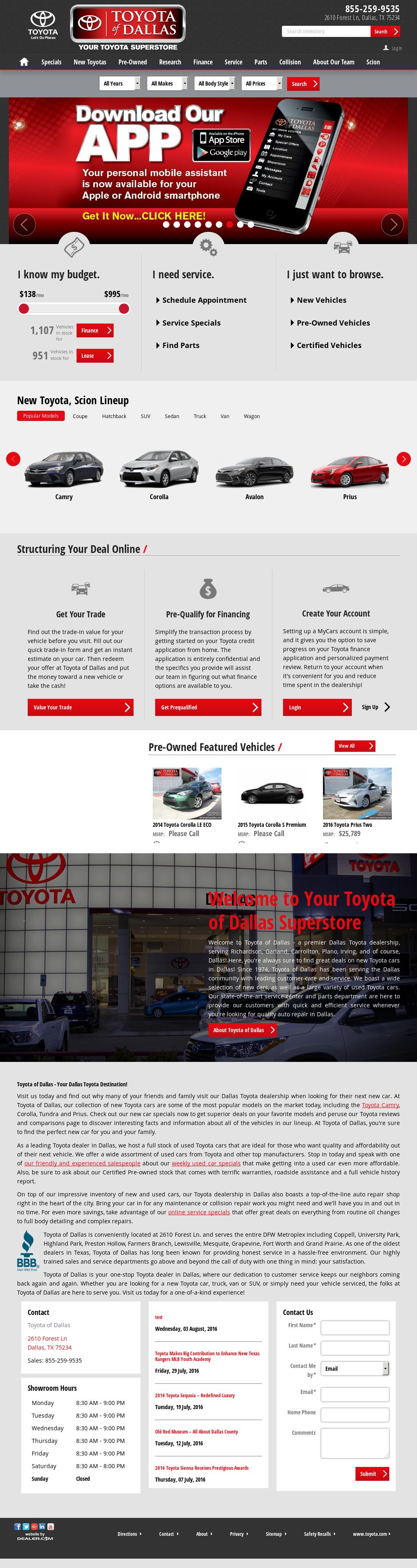 Toyota Dallas petitors Revenue and Employees Owler pany Profile