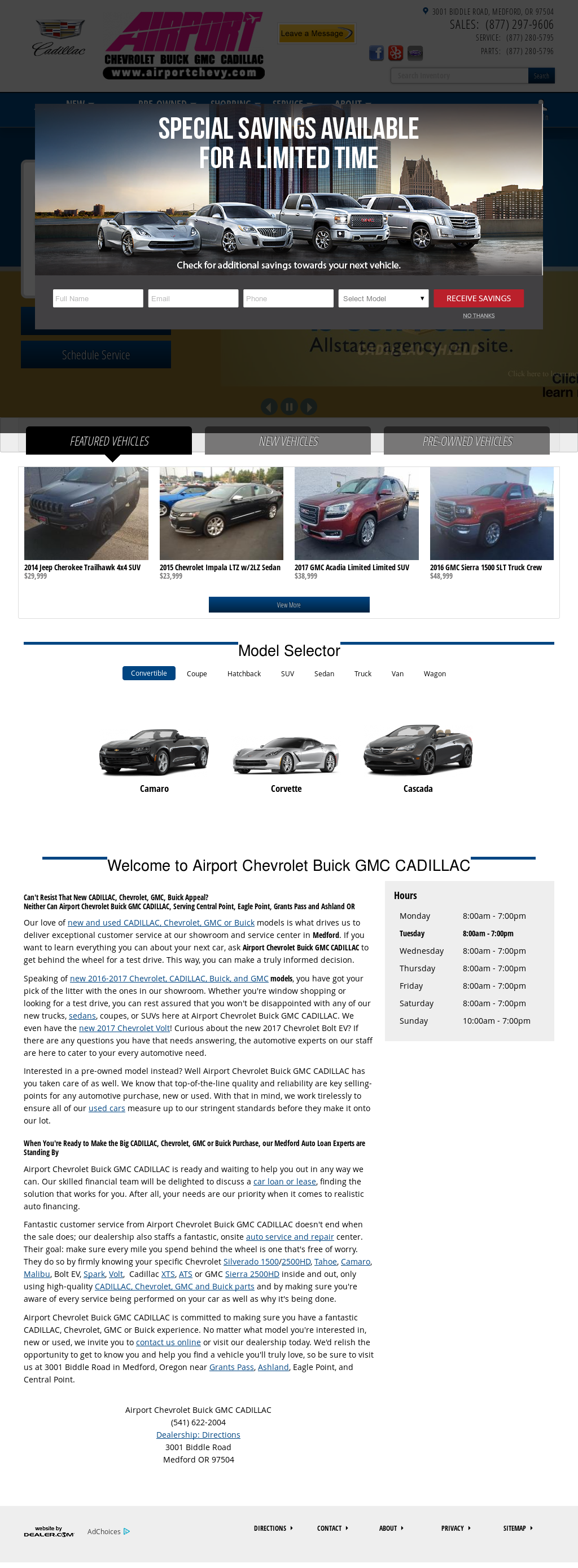 Airport Chevrolet Buick Gmc Cadillac Website History