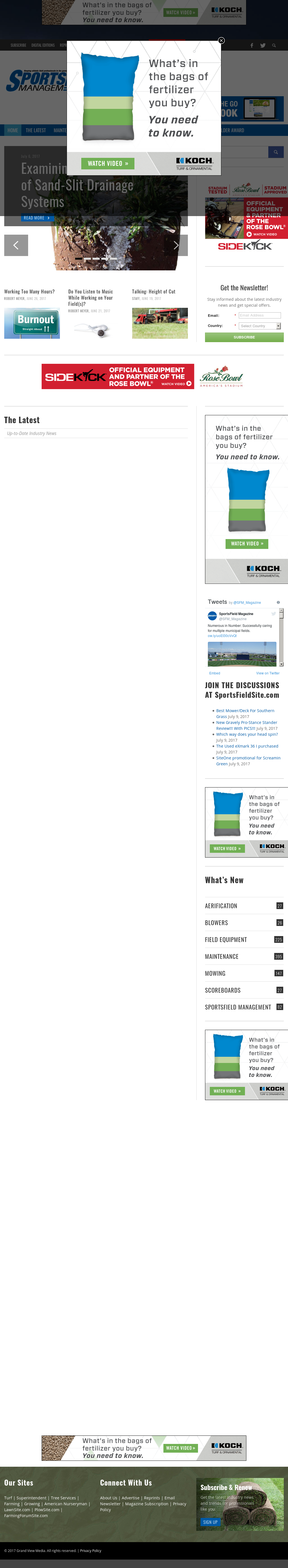 Sportsfield Management Magazine Competitors, Revenue and