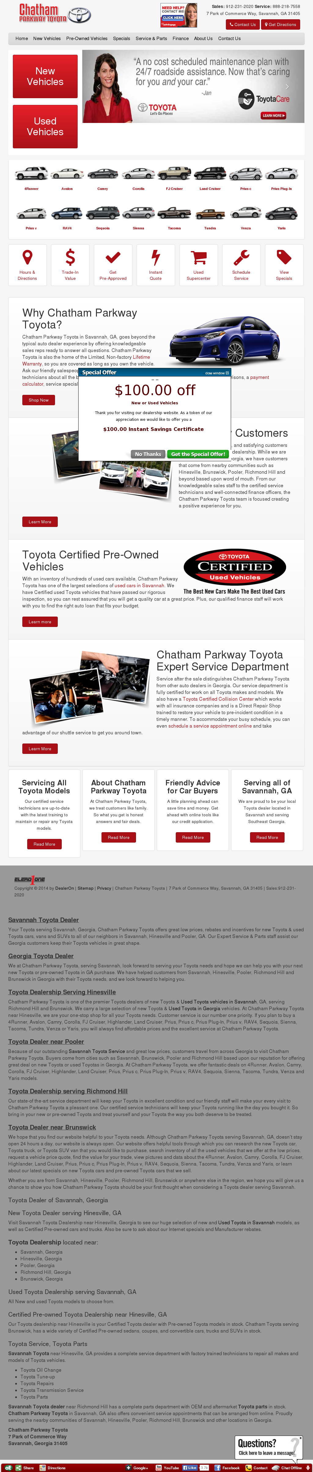 Chatham Parkway Toyota >> Chatham Parkway Toyota Competitors Revenue And Employees