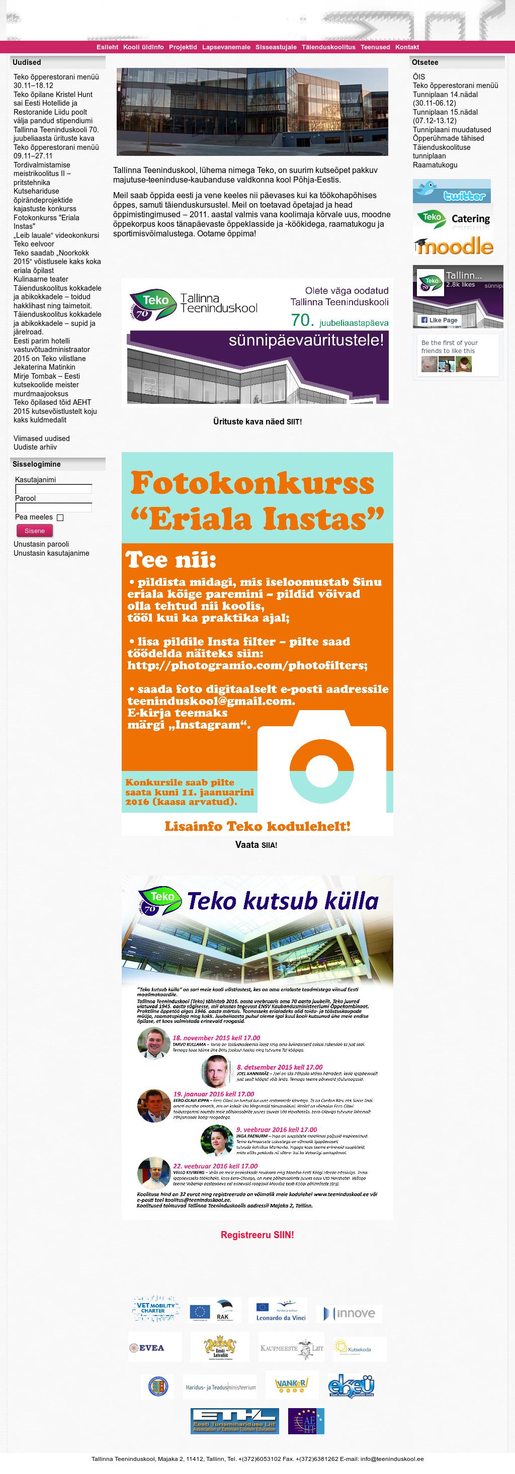 Tallinna Teeninduskool - Teko Competitors, Revenue and