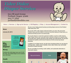 Tidee Didee Diaper Service Natural Baby Boutique Competitors