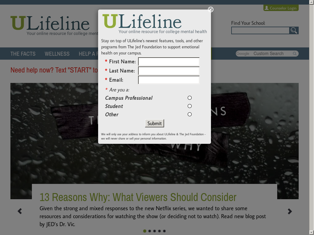 Ulifeline, A Project Of The Jed Foundation Competitors, Revenue and