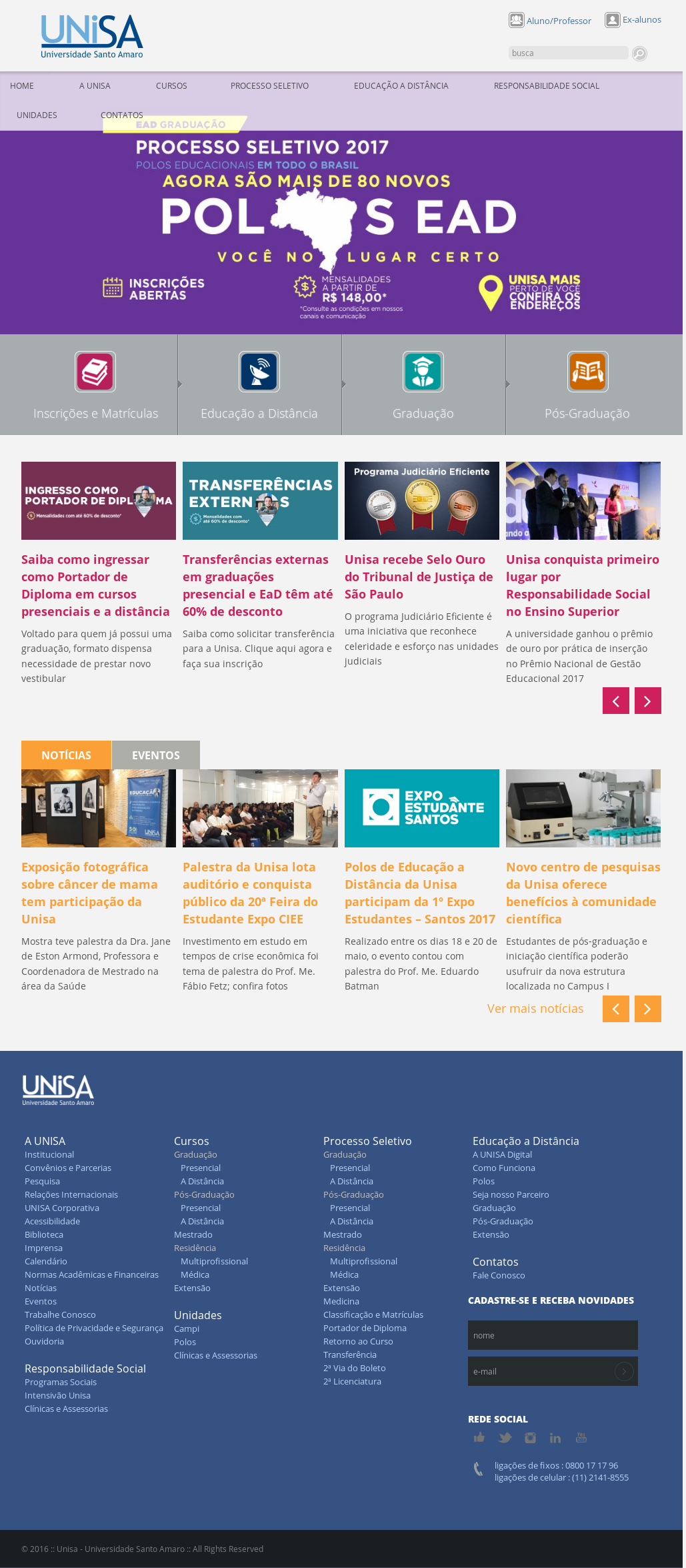 Unisa Calendario.Unisa Universidade De Santo Amaro Competitors Revenue And