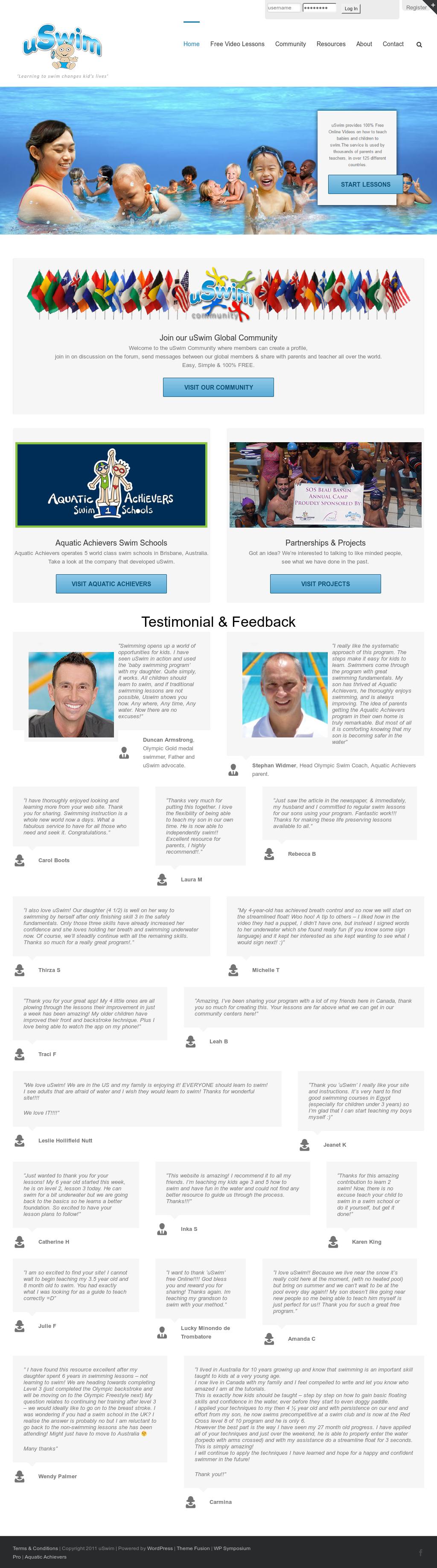 uswim' - Free Online Swim Lessons Competitors, Revenue and
