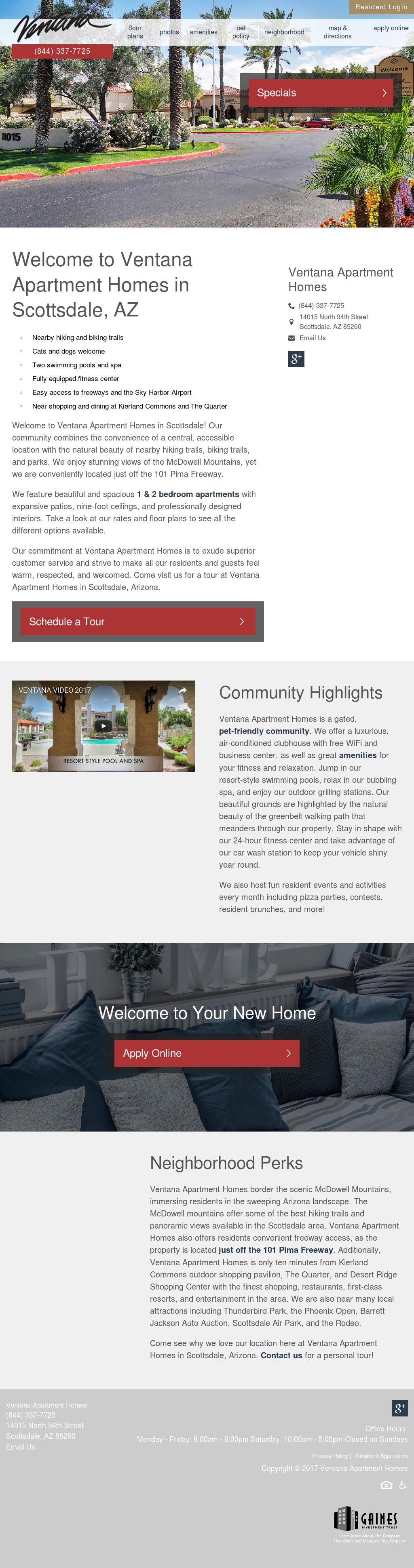 Ventana Luxury Apartments Scottsdale Competitors, Revenue ...