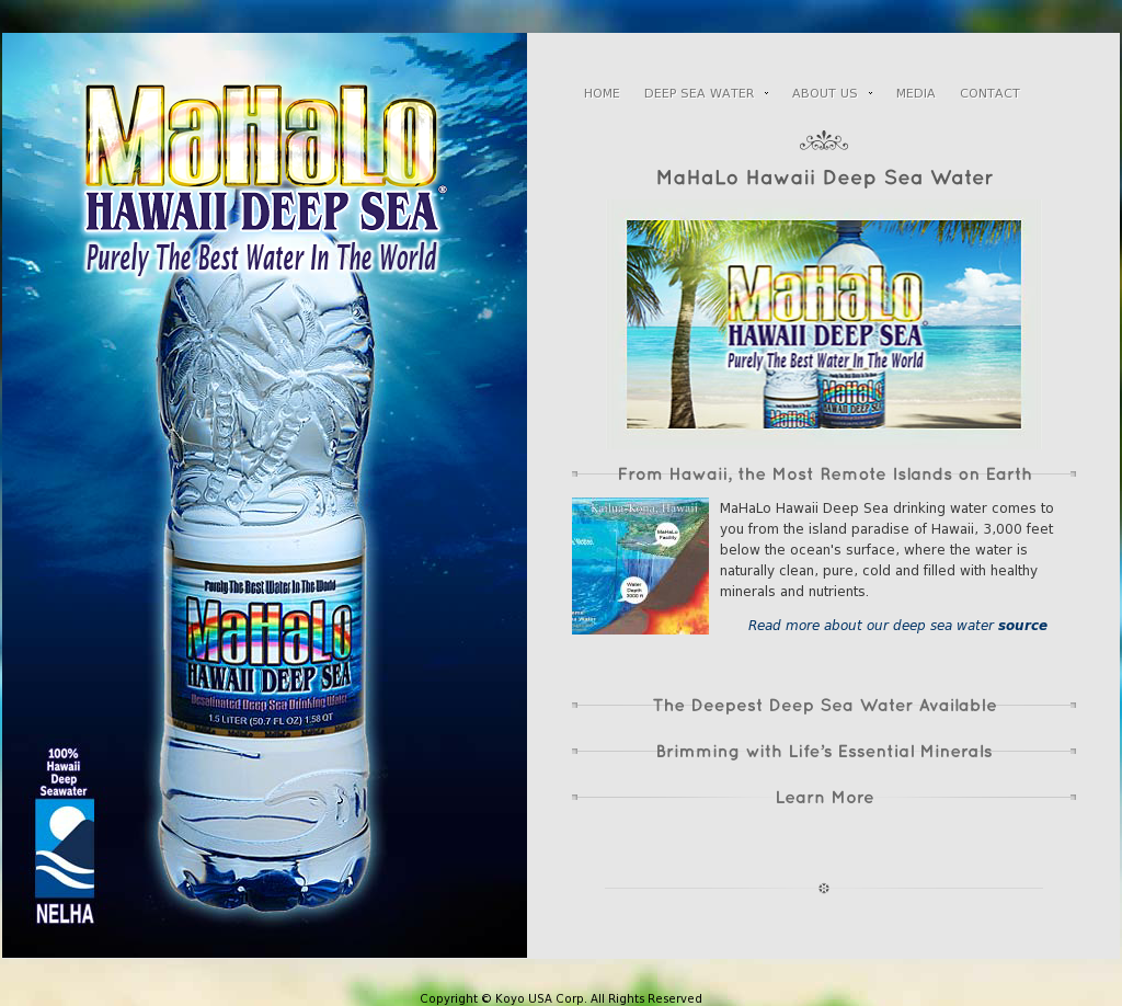 MaHaLo Hawaii Deep Sea Drinking Water Competitors, Revenue