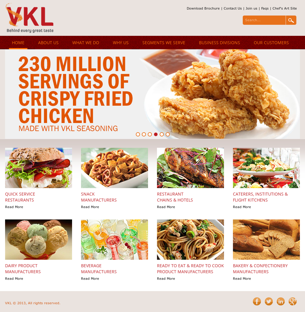 Owler Reports - Vkl Seasoning: VKL Foodservices to launch