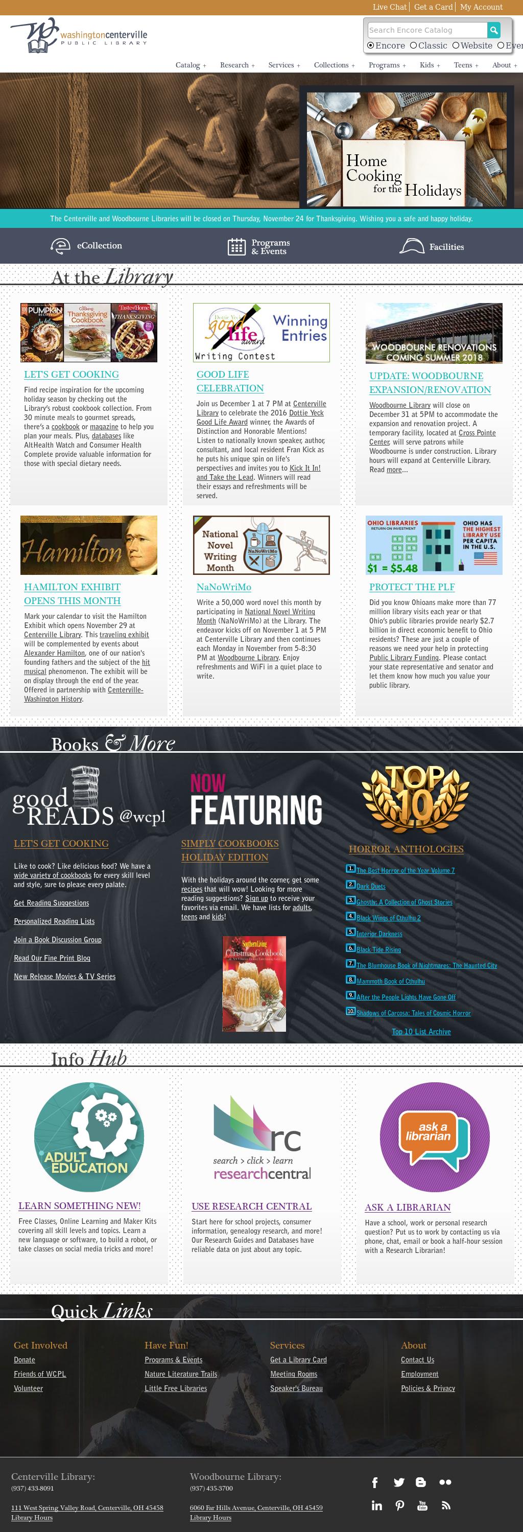 Washington Centerville Public Library Competitors Revenue And