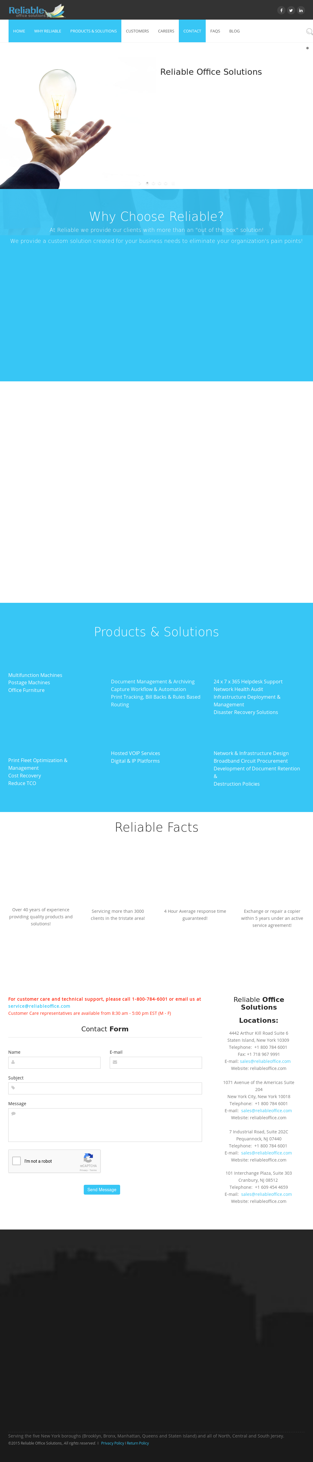 Reliable Office Systems Supplies Website History