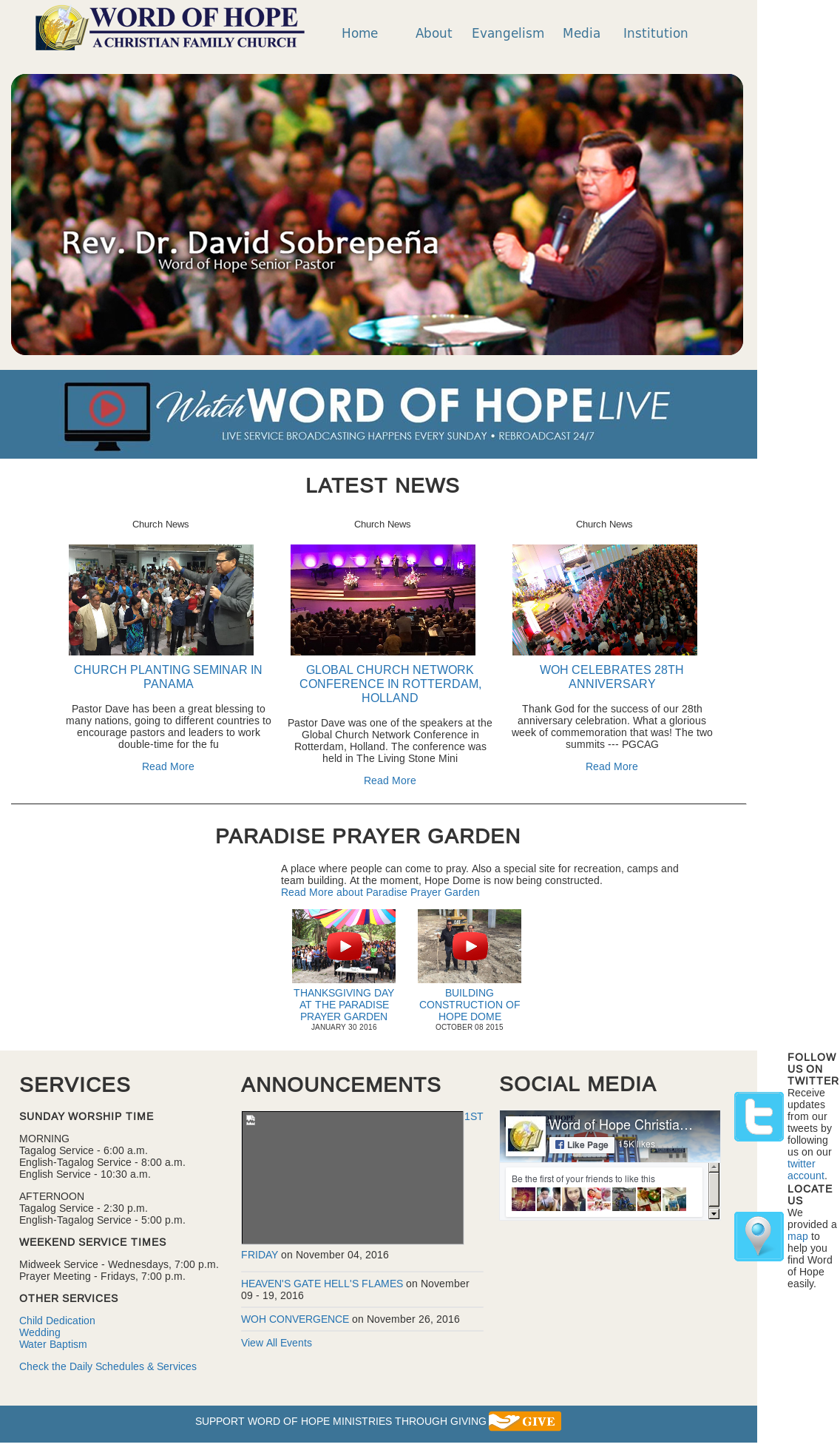 Word Of Hope Christian Family Church Competitors, Revenue and