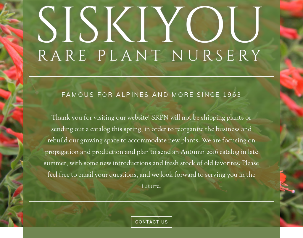 Siskiyou Rare Plant Nursery Compeors Revenue And Employees Owler Company Profile