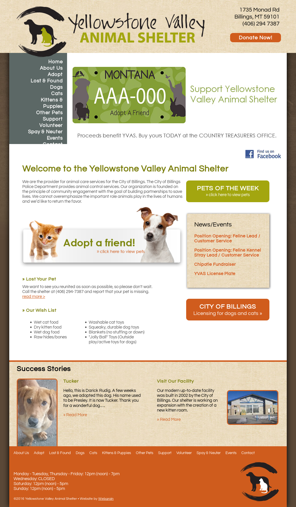 Yellowstone Valley Animal Shelter Competitors, Revenue and Employees