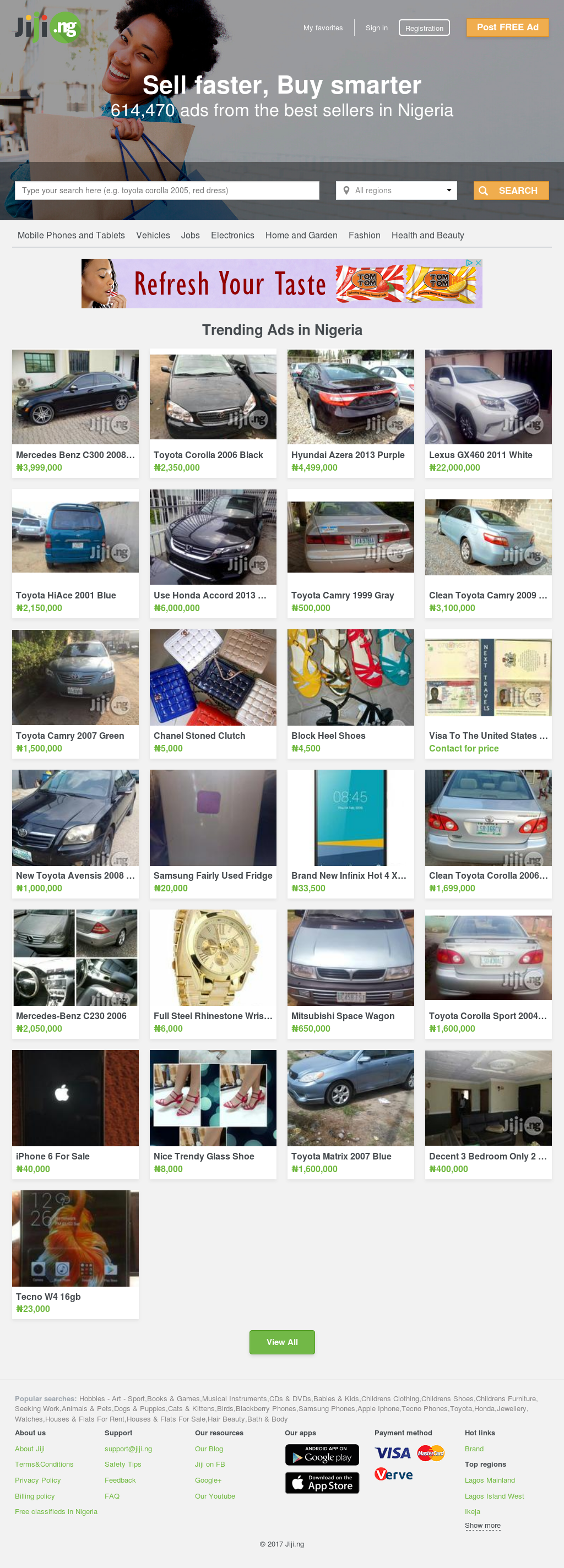 Toyota Camry  Green Cars For Sale In Lagos State Lagos Mainland Toyota Cars For Sale