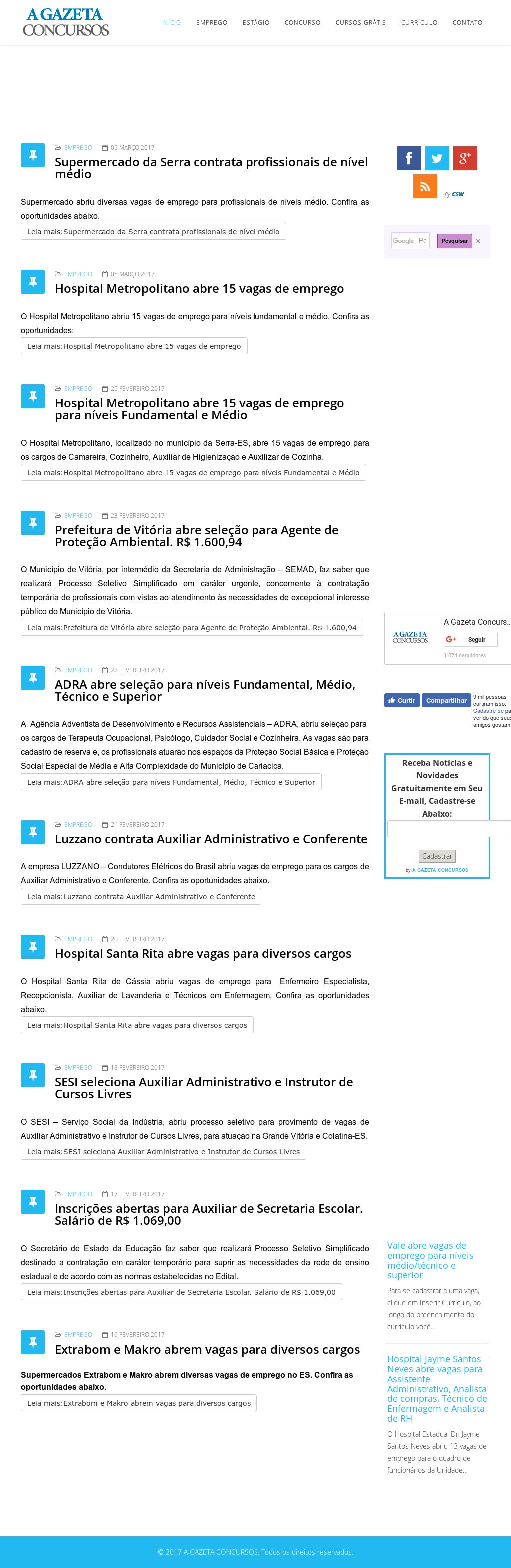 A Gazeta Concursos Competitors 6c4ffdb661b47