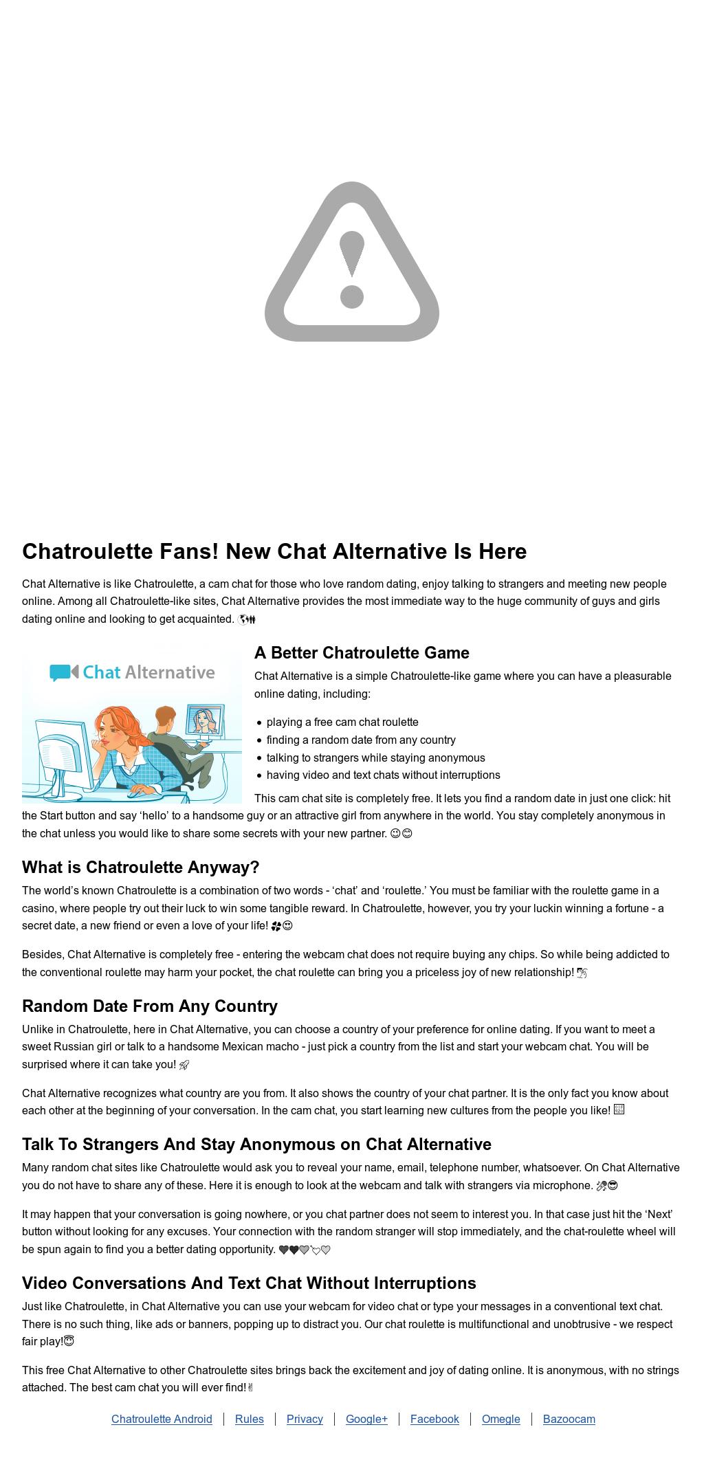free chatroulette alternative