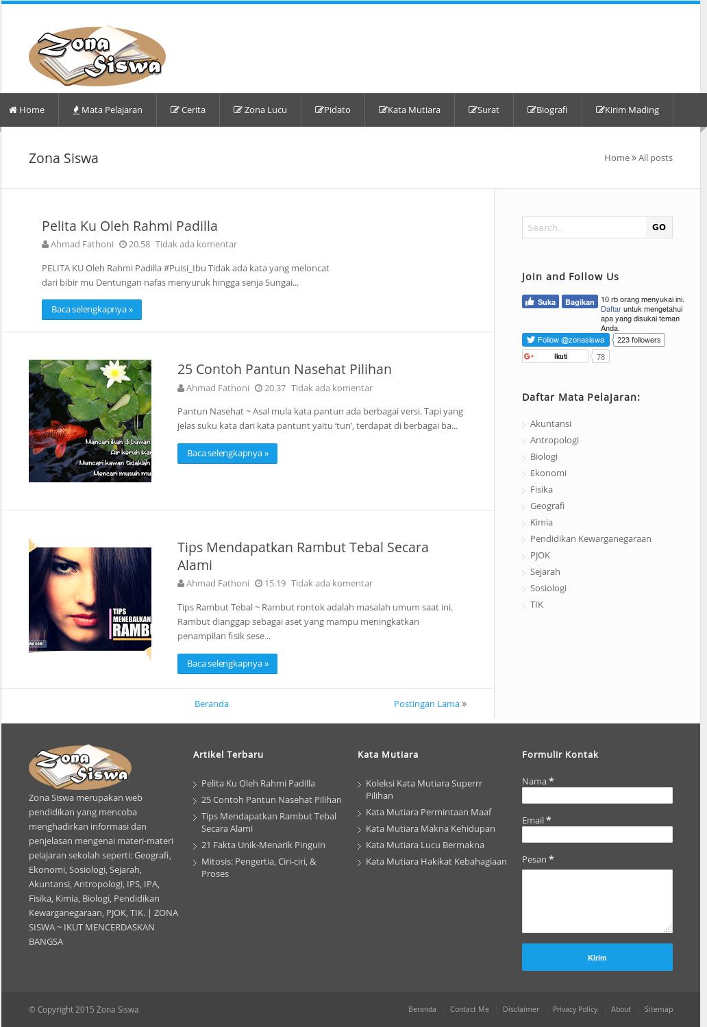 Zona Siswa Competitors Revenue And Employees Owler Company Profile