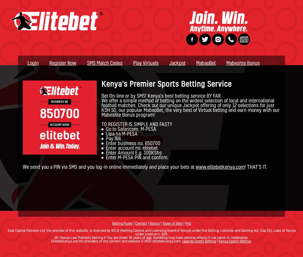 Kenya sport betting elitebet legal sports betting age