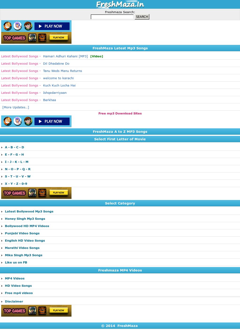 freshmaza video songs mp4 bollywood free download hd