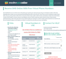 Receive Sms Online For Free Competitors, Revenue and Employees