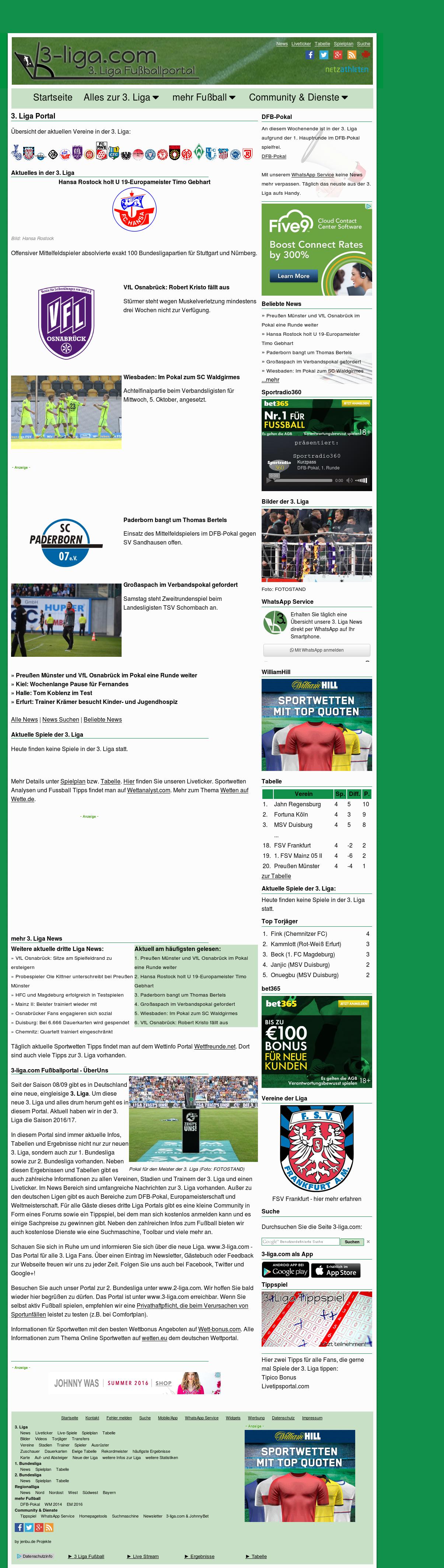 3 Bundesliga Ergebnisse Aktuell