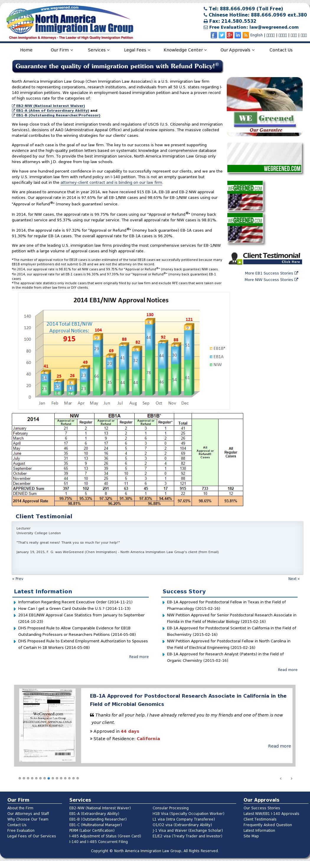 Owler Reports - Chen Immigration Law Associates Blog Success