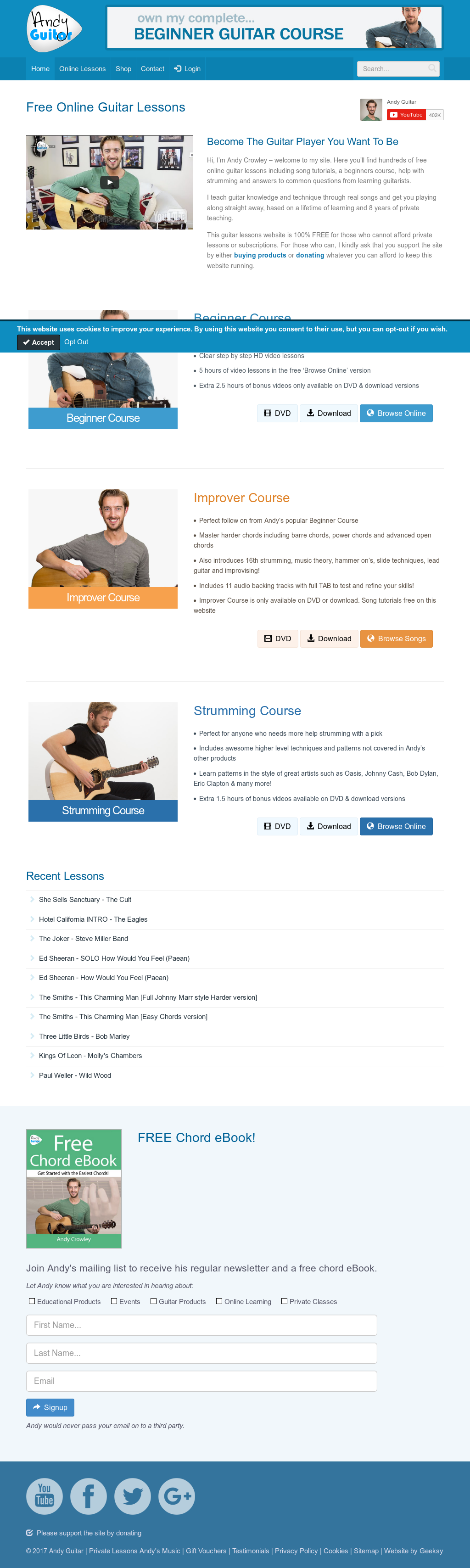Andy Guitar Lessons Leeds Competitors Revenue And Employees Owler