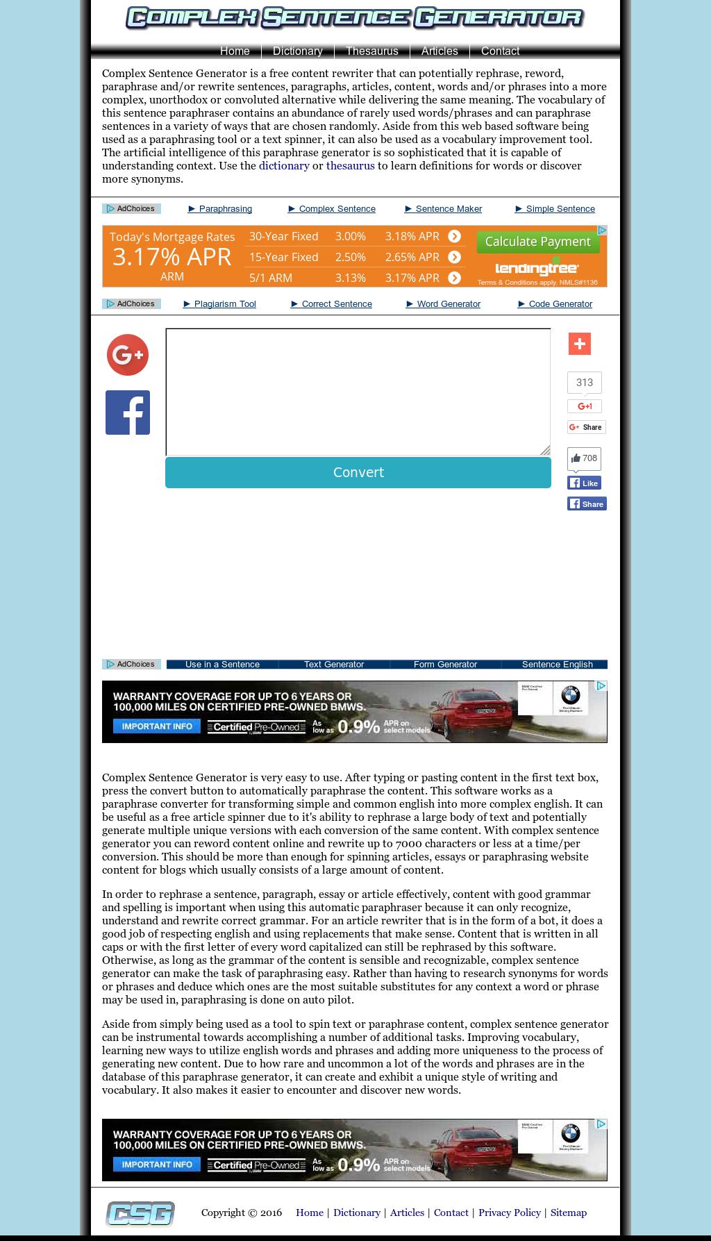 Complex Sentence Generator Competitors, Revenue and