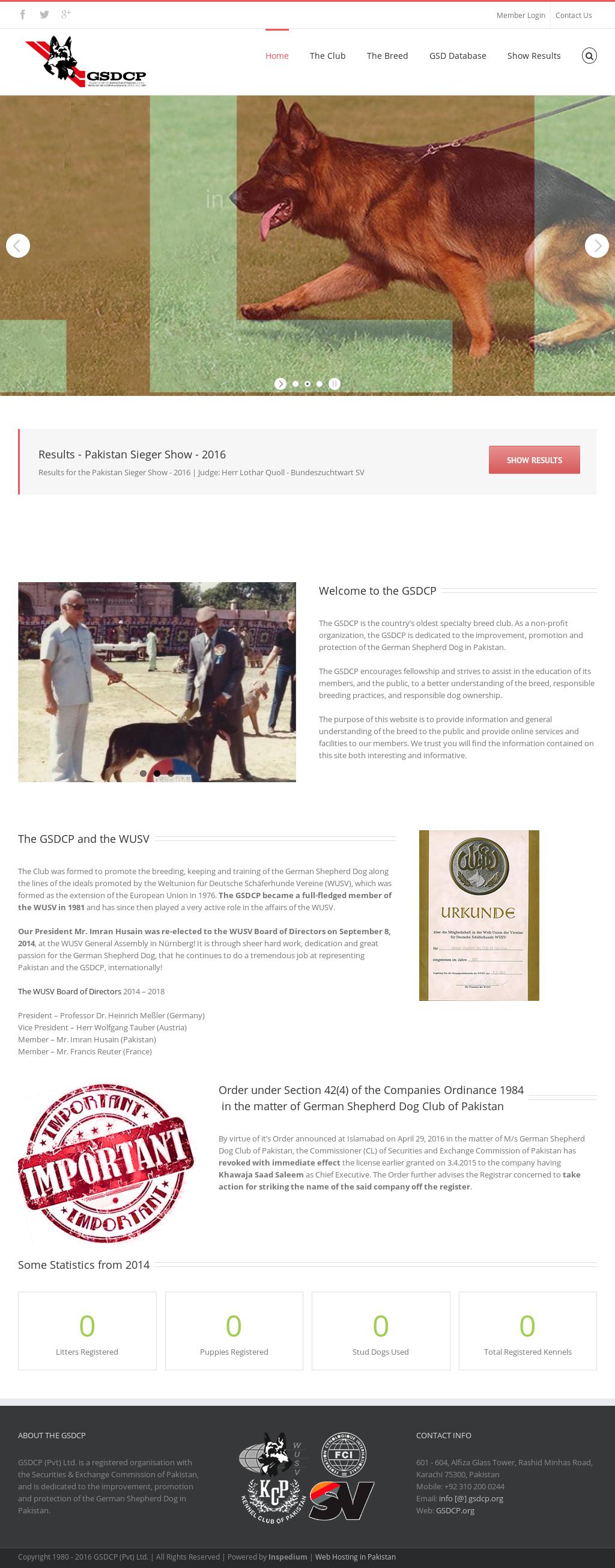 German Shepherd Dog Club Of Pakistan Competitors, Revenue and