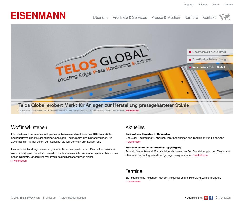 Eisenmann insolvent 2019