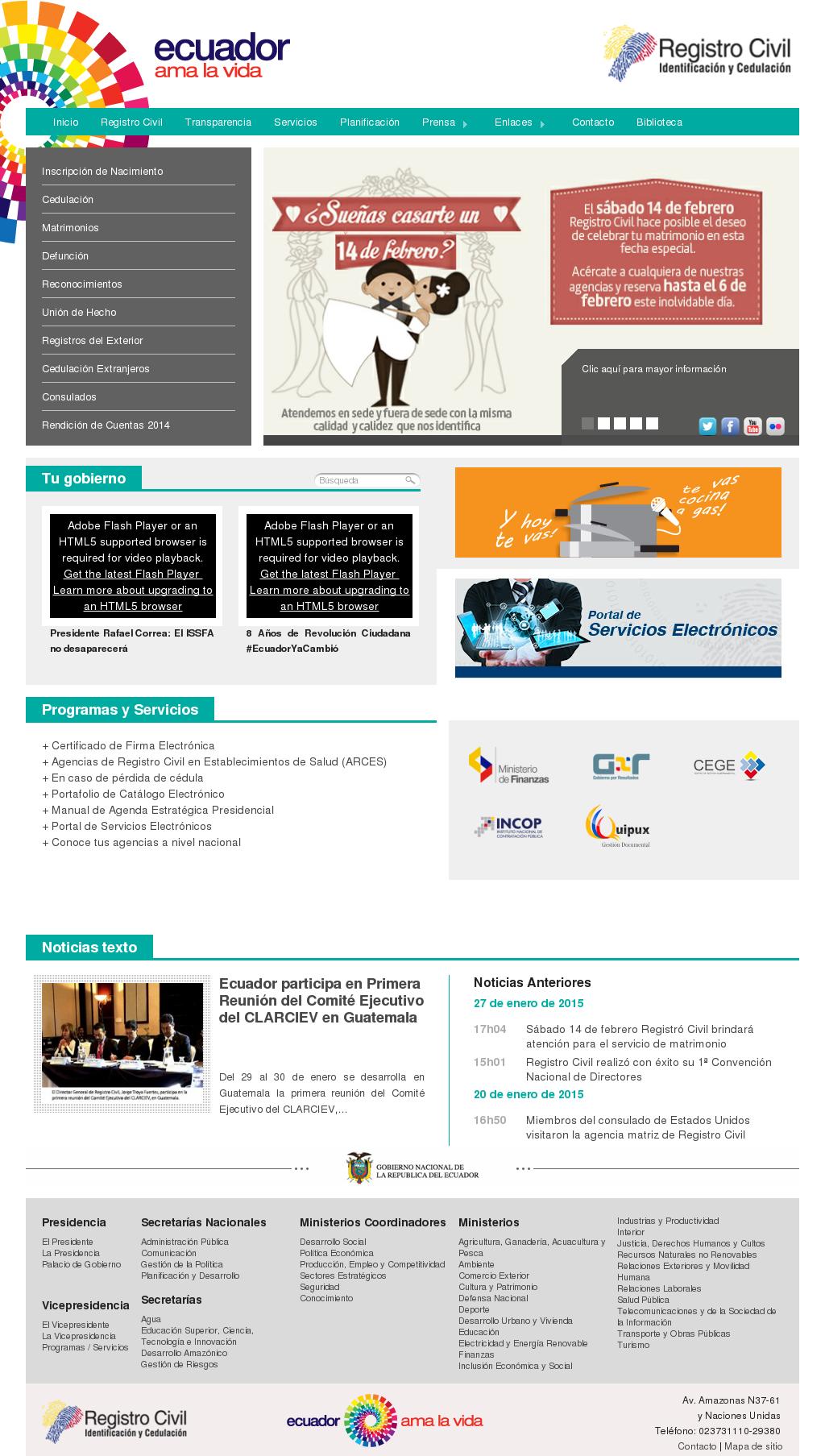 Registro civil del ecuador online dating