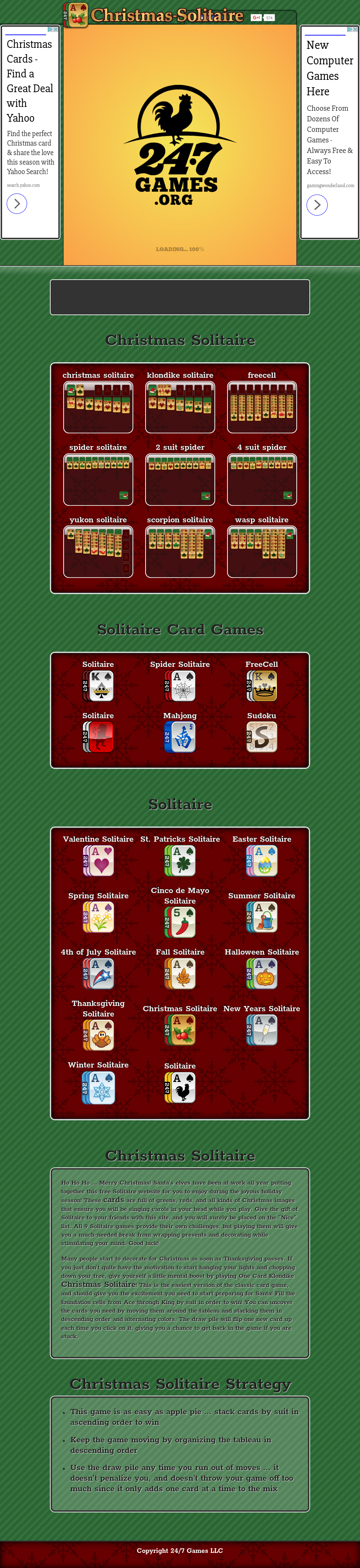 Christmas Solitaire Competitors, Revenue and Employees