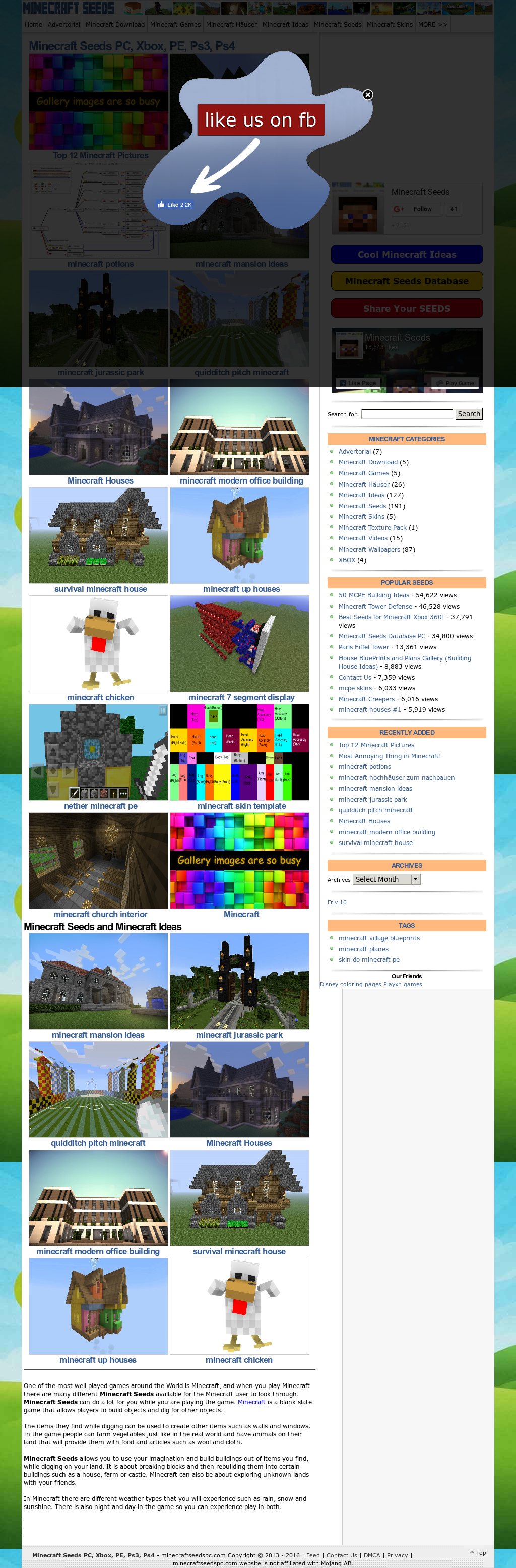 Minecraftseedslist Competitors, Revenue and Employees