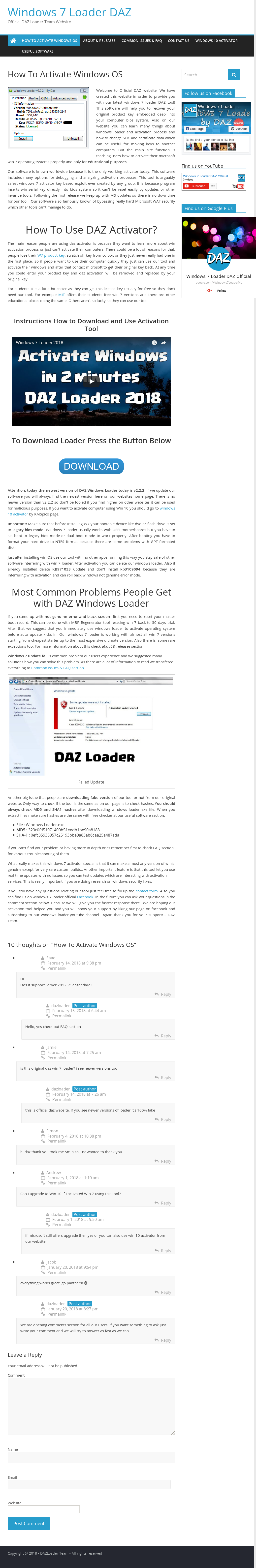 Windows 7 Loader By Daz Competitors, Revenue and Employees