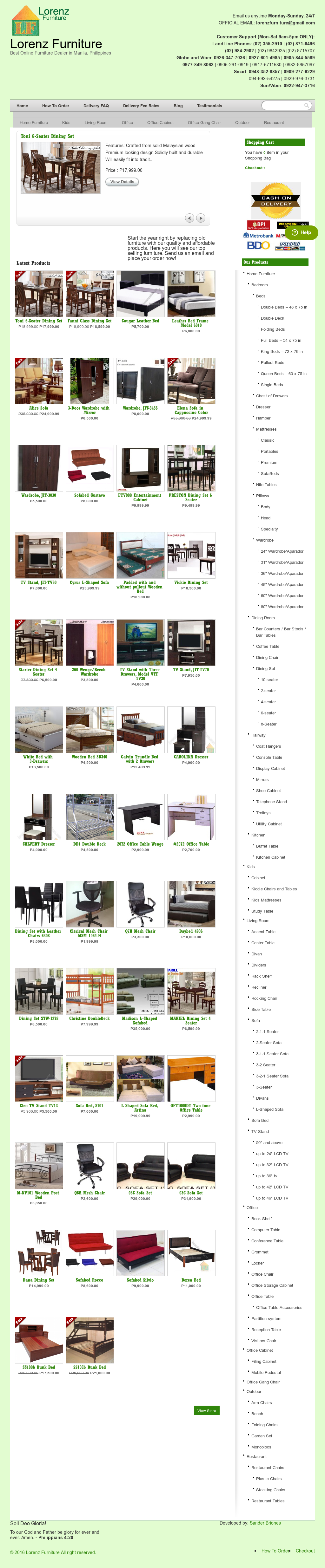 Lorenz Furniture Website History