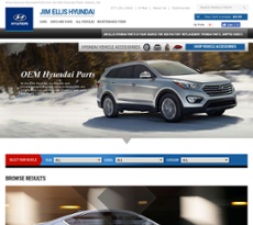 Jim Ellis Hyundai Partsu0027s Website Screenshot On Jun 2018