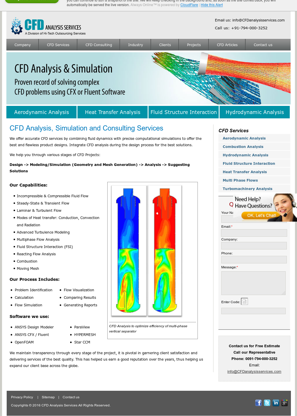 Cfd Analysis Services Competitors, Revenue and Employees