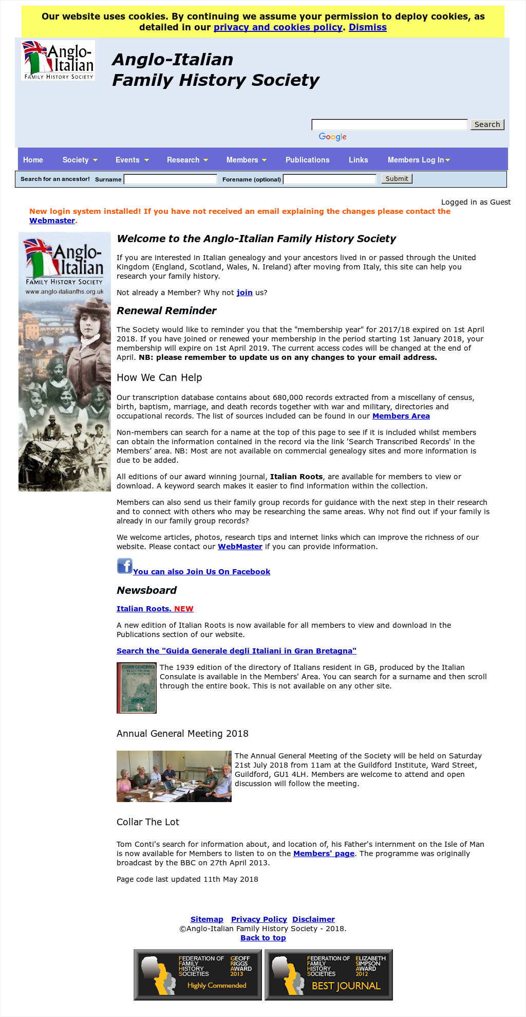 Anglo-italian Family History Society Competitors, Revenue and