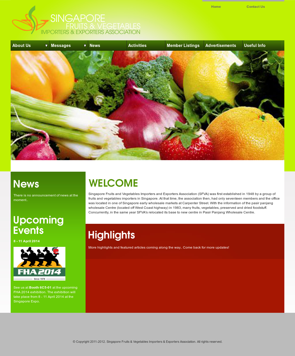 Singapore Fruits & Vegetables Importers & Exporters
