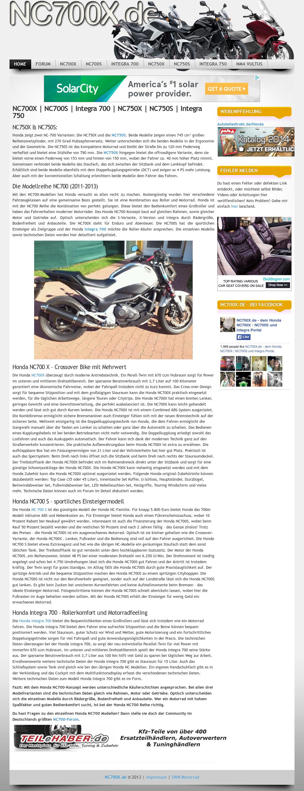 Nc700x de - Dem Honda Nc700x / Nc700s Und Integra Portal Competitors