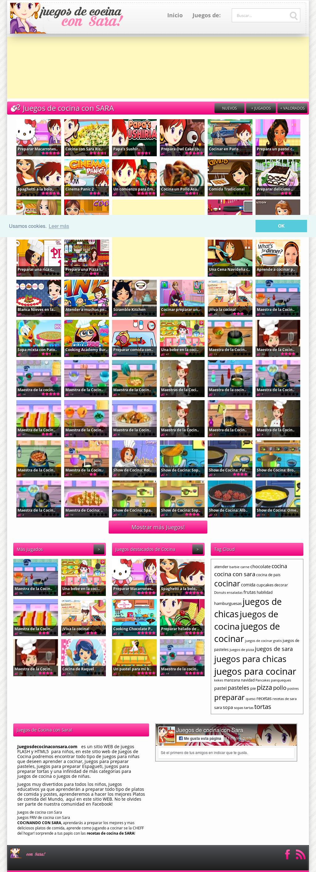 Juegos De Cocina Con Sara Competitors Revenue And Employees Owler