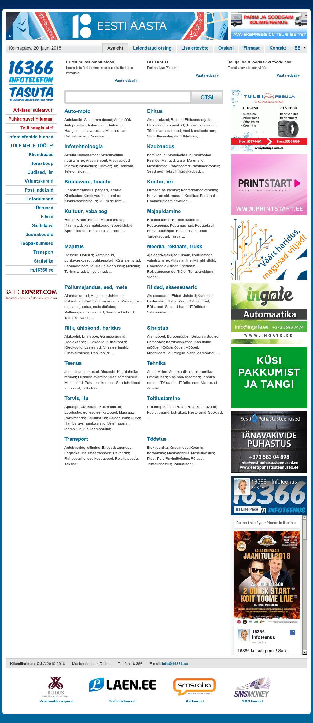16366 - Infotelefon website history