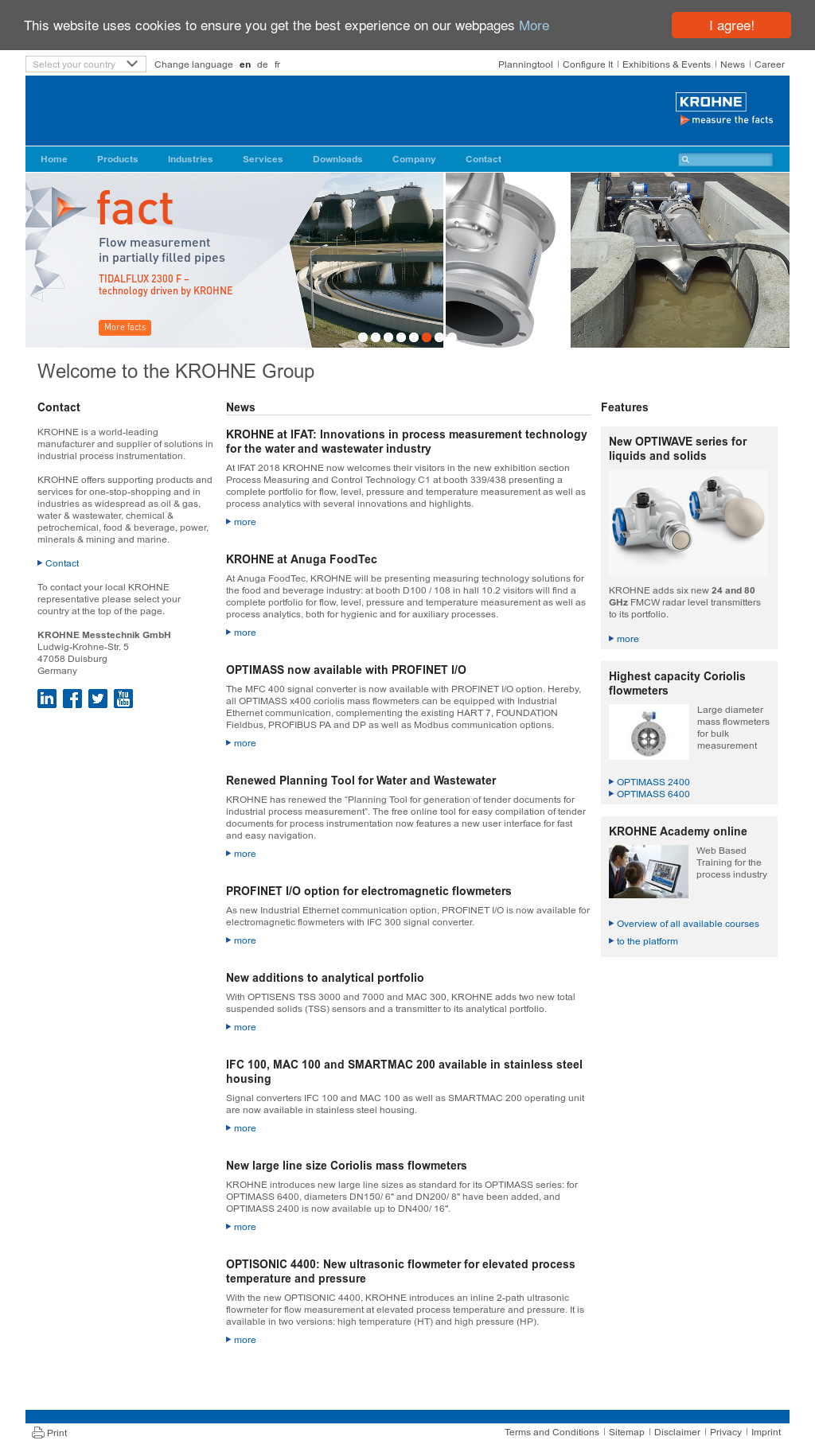 Owler Reports - KROHNE: Krohne to Feature Non-Contact Radar