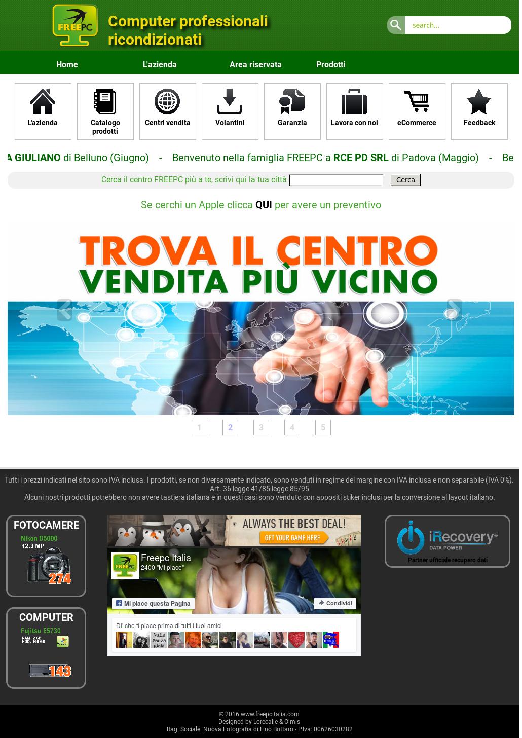 3887c51b6 Freepc Italia Competitors
