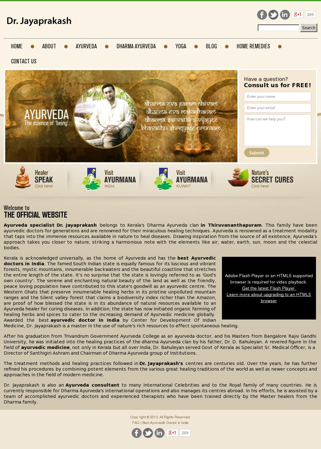 Ayurveda Doctor - Dr jayaprakash Competitors, Revenue and