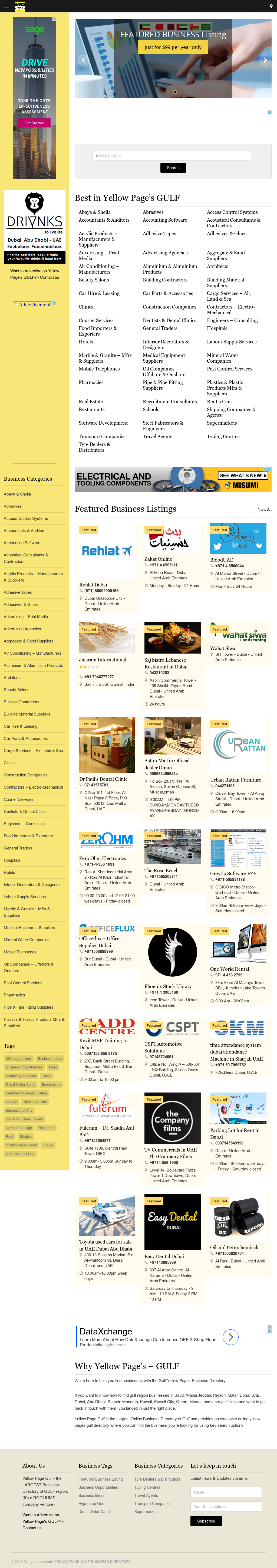 Yellow Pages Gulf Business Directory Competitors, Revenue and