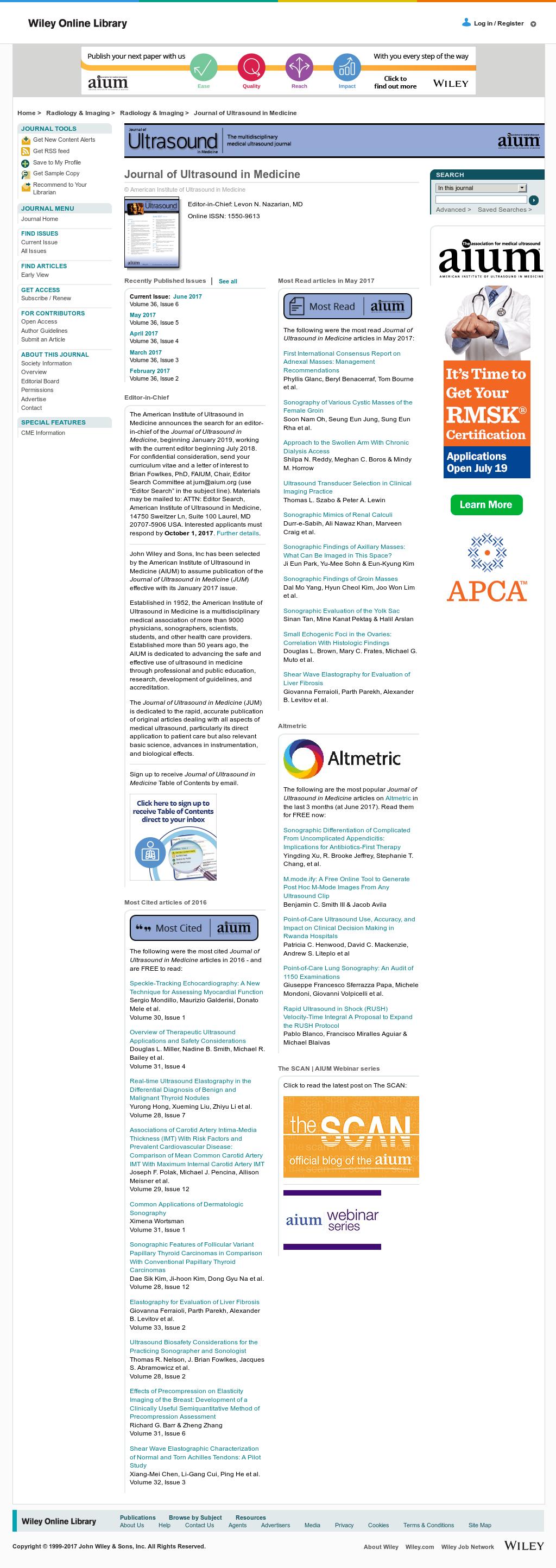 Nov 2017. AIUM – American Institute of Ultrasound in Medicine.